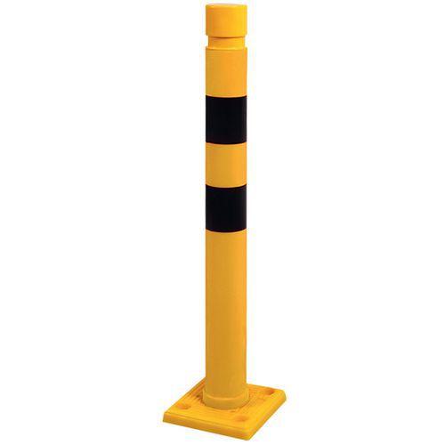 Paletto giallo e nero - Ø 80 mm - Alt. 750 mm