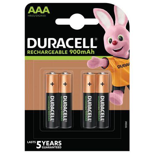 Pila ricaricabile Ultra 850 mAh AAA LR3 - Confezione da 4 - Duracell