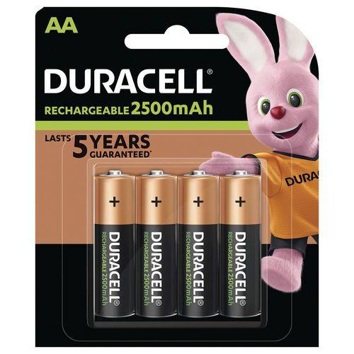 Pila ricaricabile Ultra 2500 mAh AA LR6 - Confezione da 4 pile - Duracell