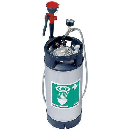 Tanica portatile in inox da 15 litri con doccetta manuale