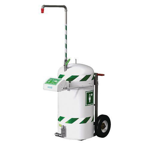 Doccia di sicurezza autonoma e mobile 114 litri - Hughes