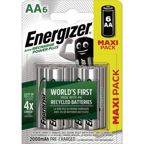 Pila Power Plus AA precaricata - 2000 mAh - Lotto da 6 - Energizer