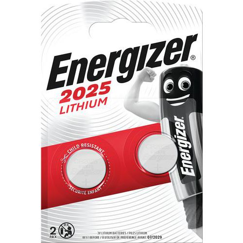 Pila al litio per calcolatrice - CR2025 - Lotto da 2 - Energizer