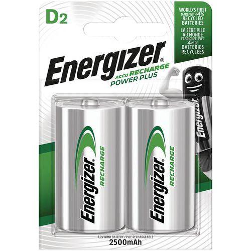 Pila alcalina ricaricabile - D/LR20 - Lotto da 2 - Energizer