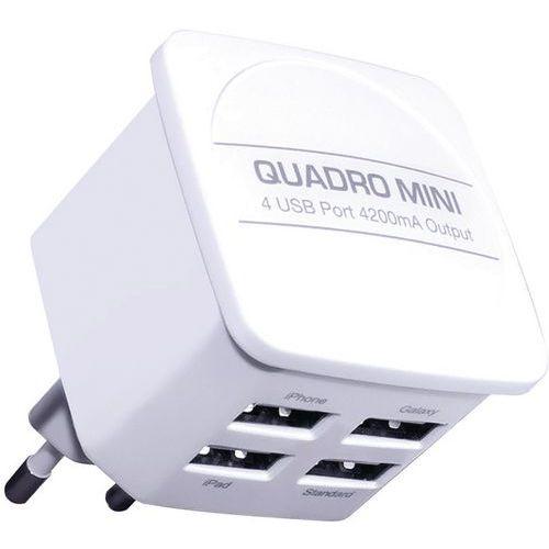 Caricatore di rete a 4 ingressi USB – Bianco - Moxie