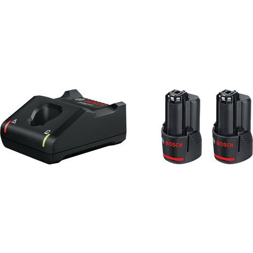 Kit di 2 batterie da 12V e caricatore rapido - Bosch