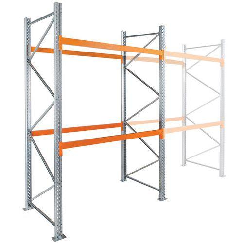 Scaffalatura per pallet Easy-Rack - Finitura galvanizzata - P 1100 mm - Manorga