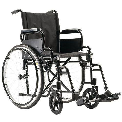 Sedia a rotelle con schienale fisso nero
