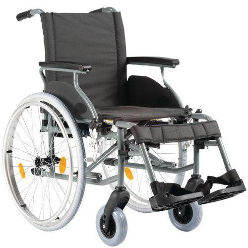 Sedia a rotelle schienale fisso nero - Struttura alluminio