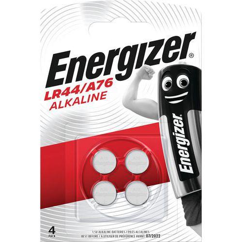 Pila a bottone alcalina LR44 - A76 - Lotto da 4 - Energizer
