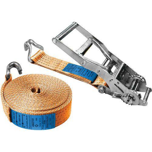 Cinghia di ancoraggio a ganci e tenditore a cricchetto - TMU 2500 kg