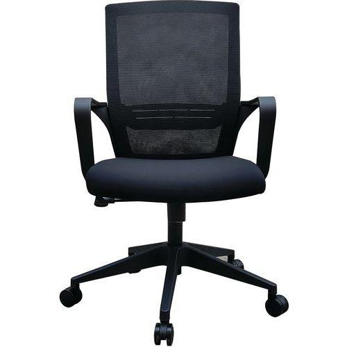 Sedia da ufficio nera Elane