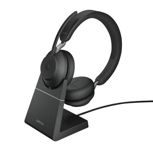 Cuffia con microfono con filo Evolve2 65 UC Duo USB-C Link 380c +base - Jabra