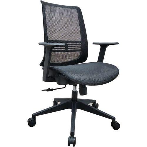 Sedia da ufficio nera Lena
