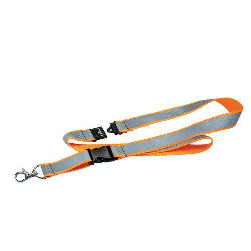 Laccio in tessuto catarifrangente arancione per badge - Durable
