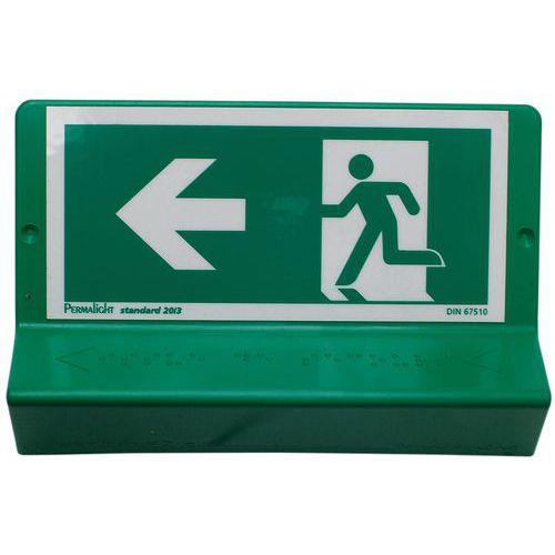 Segnaletica braille - Uscita di emergenza - Wattelez