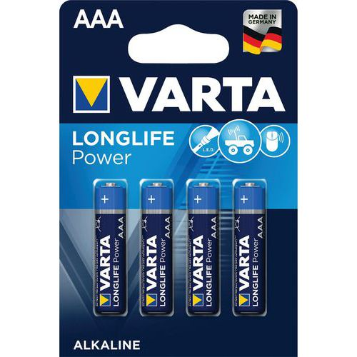 Pila alcalina Longlife Power - AAA LR03 - Varta