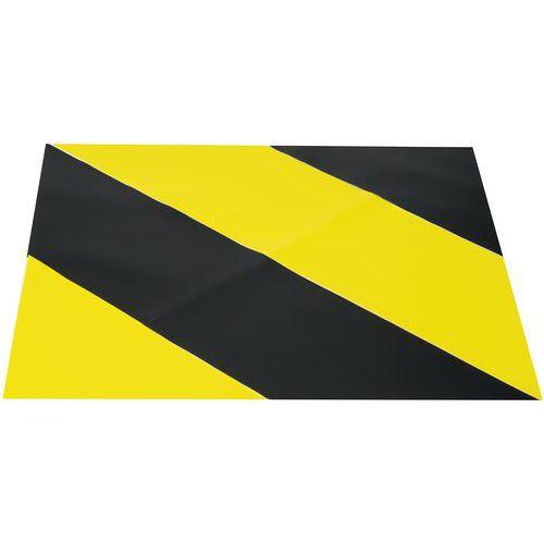 Adesivo per marcatura a terra - Area bicolore - 900 x 900 mm - Gergosign