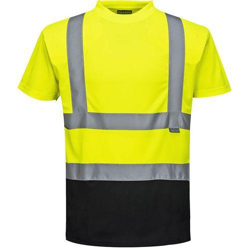 T-shirt bicolore hi-vis nero giallo - Portwest