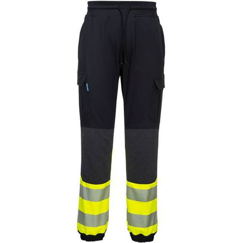 Kx3 pantalon flexi haute visibilité nero giallo - Portwest